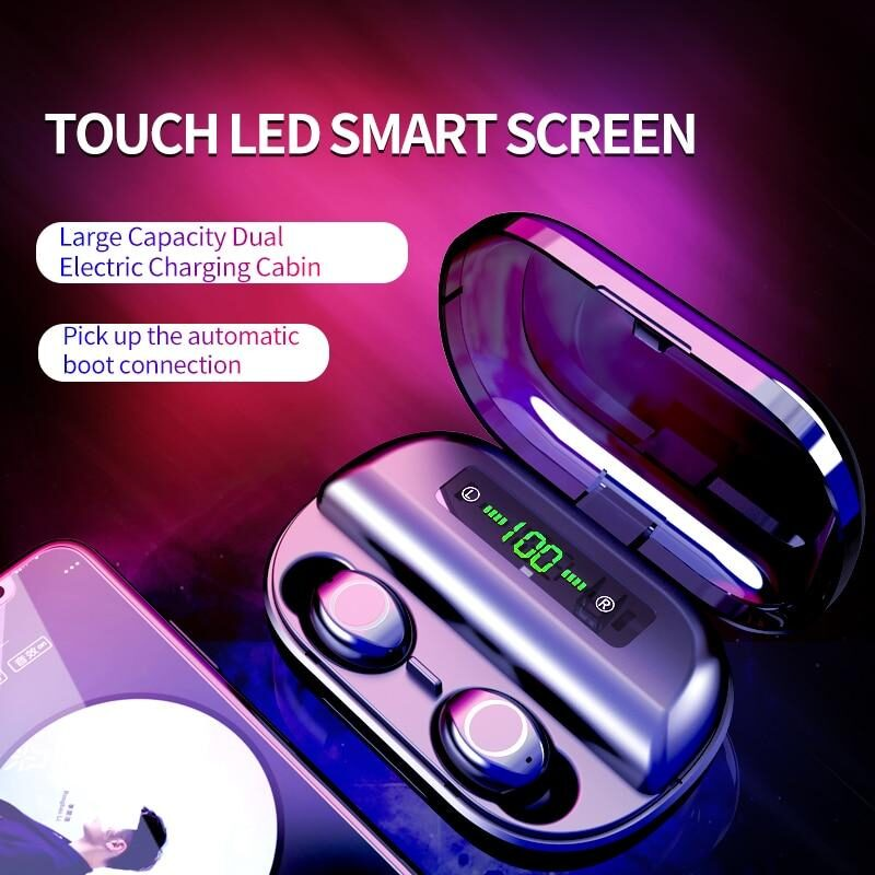 Touch Control Wireless Earbuds With Power Box - KOLLMART