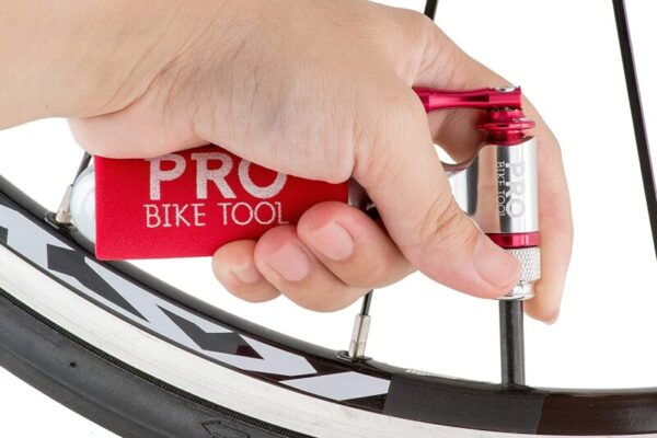 Quick & Easy – Presta and Schrader Valve Compatible – Bicycle Tire Pump for Road and Mountain Bikes
