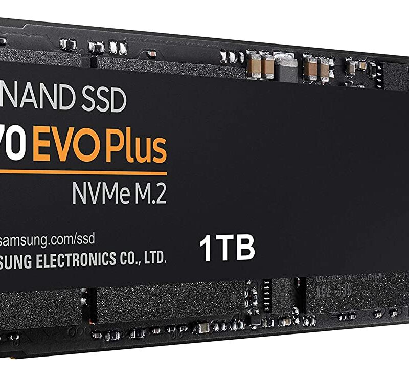 SAMSUNG (MZ-V7S1T0B/AM) 970 EVO Plus SSD 1TB – M.2 NVMe Interface Internal Solid State Drive with V-NAND Technology