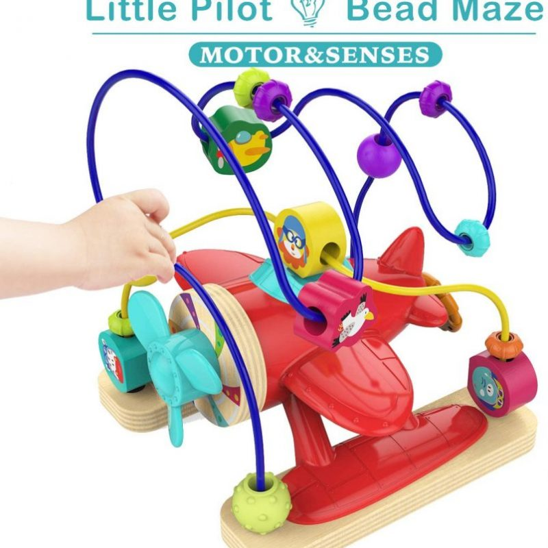 TOP BRIGHT Bead Maze Toys for 1 Year Old Boy Gifts – Educational Bead Maze for Toddlers Boy One Year Old Airplane Toys