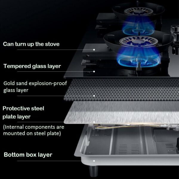 Gas Stove Double Burner, Natural Gas, Liquefied Gas