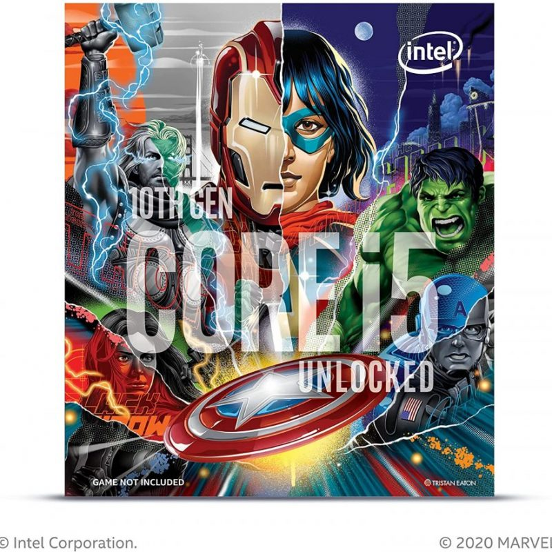 Intel Core i5-10600K Desktop Processorfeaturing Marvel's Avengers Collector's Edition Packaging 6 Cores up to 4.8 GHz Unlocked LGA1200 (Intel 400 Series.