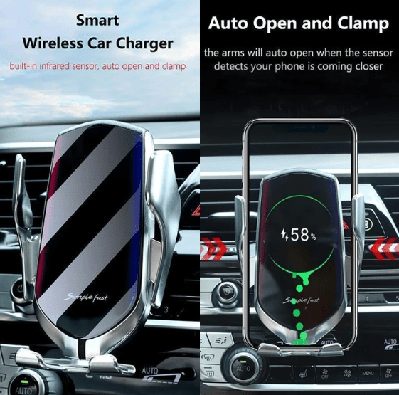 Wireless Sensor Car Phone Holder and Charger