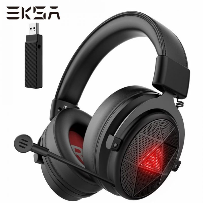 5.8GHz Wireless Headphones E910 Gaming Headset with Microphone/ENC/7.1 Surround/Low Latency Headset Gamer for PS4/PS5/PC/TV