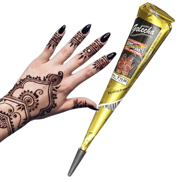 Pure & Natural Ready to Use Henna Paste Hair Color Hair Dye Cones